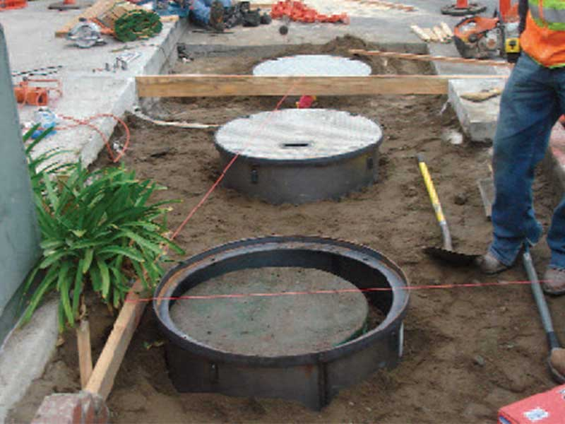 Malibu country mart repairs onsite wastewater treatment for Septic tank distribution box location
