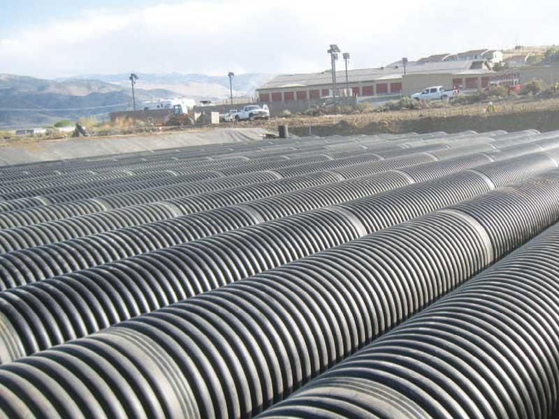 USMC Mountain Warfare wastewater treatment piping