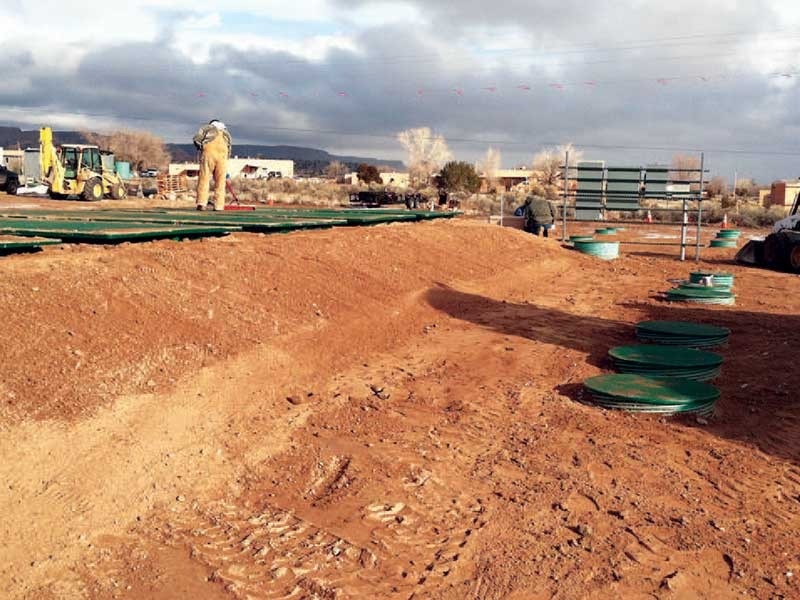 Advantex Treatment Pods after backfilling
