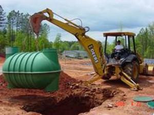Excavation and tank installation
