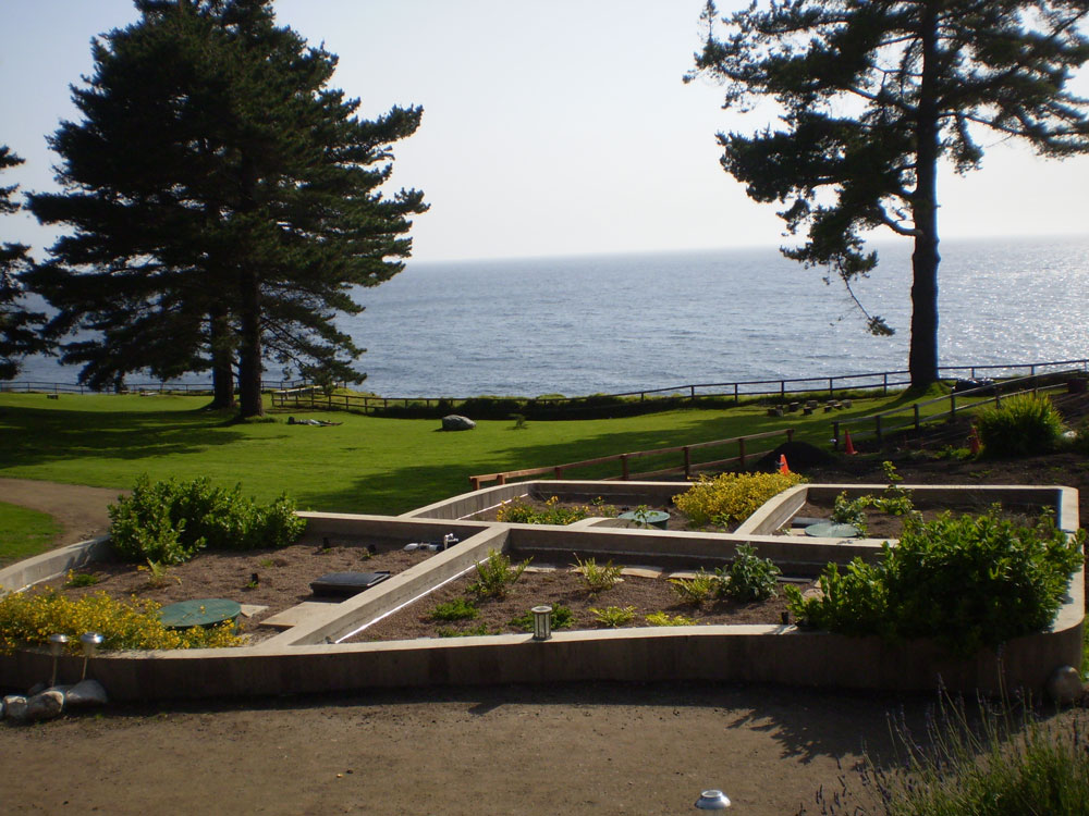 Tidal Wetland Living Machine installed at the Esalen Institute