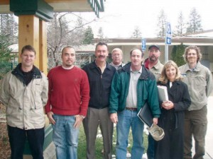 The seven members of the Feather River project team pose for a photo