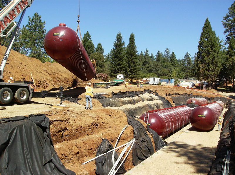 Onsite wastewater treatment system installed at Feather River Hospital in Paradise, CA