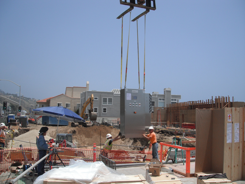 First of its kind dual Membrane Bio Reactors (MBR) installed below grade on California Coast