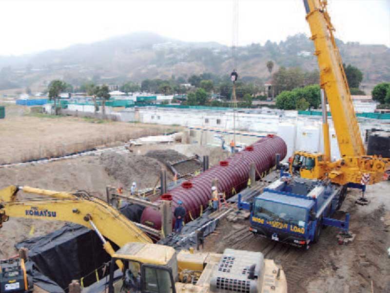 MBR Treatment Tank installation