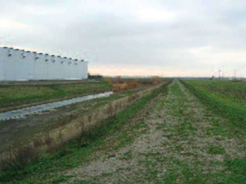 Area before wastewater system installed