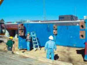 Box shoring during wastewater treatment construction