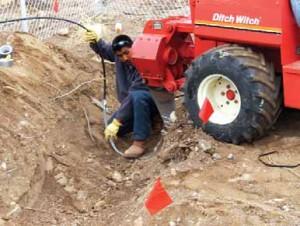PReparing to install drip irrigation